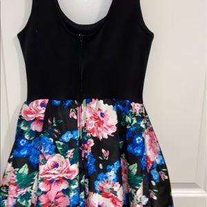 a printed pleated teeze me dress
